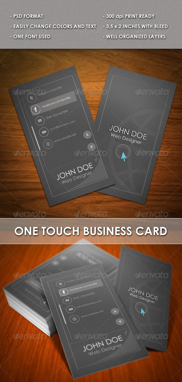 One Touch Business card - Creative Business Cards