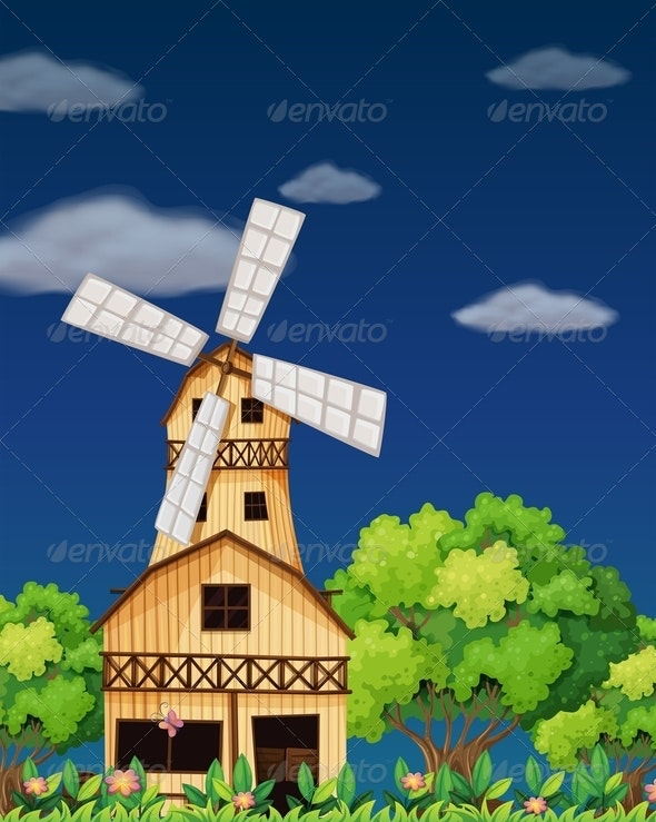 Wooden Barnhouse in the Forest