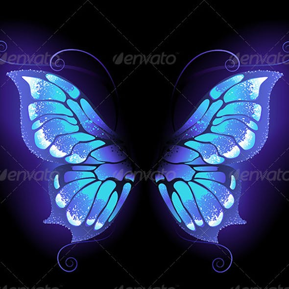 Glowing Butterfly Wings
