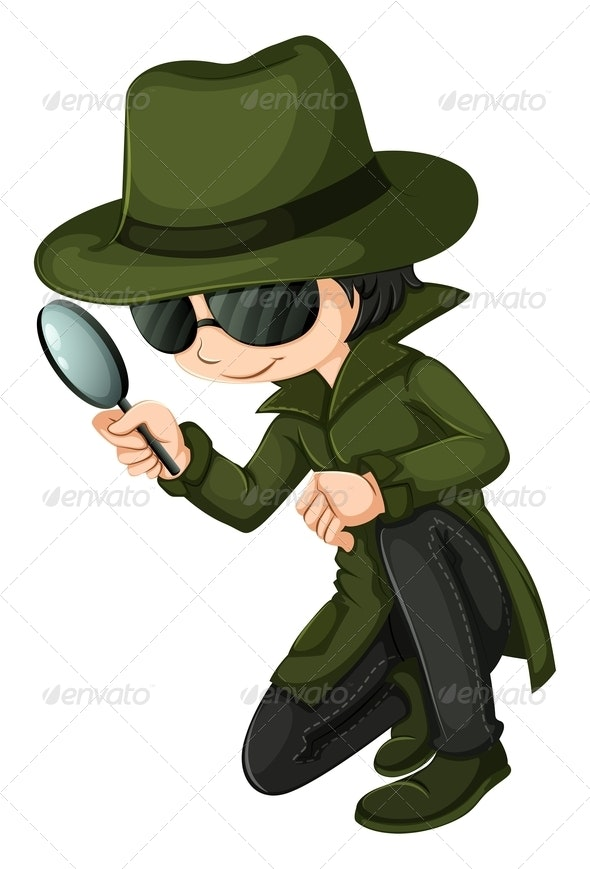 A smart young detective