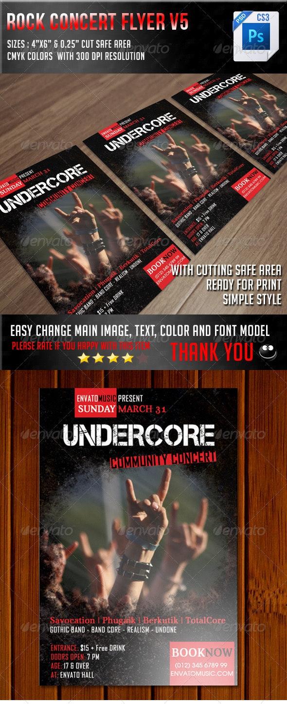 Rock Concert Flyer V5 - Concerts Events