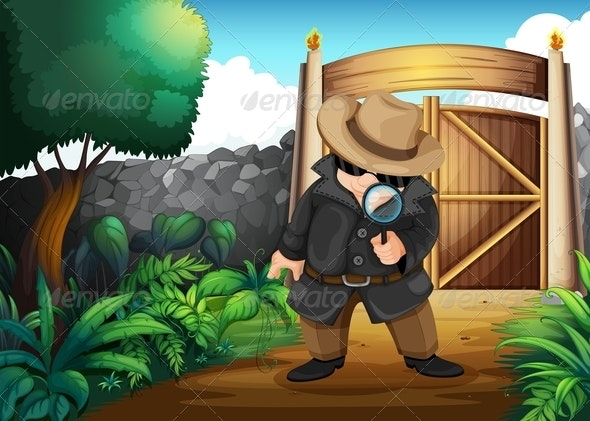 Detective in the backyard