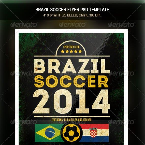 Brazil Soccer 2014   Match Flyer