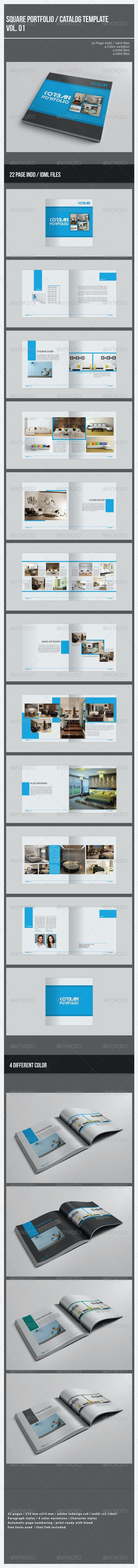 Square Portfolio / Catalog Template - Portfolio Brochures