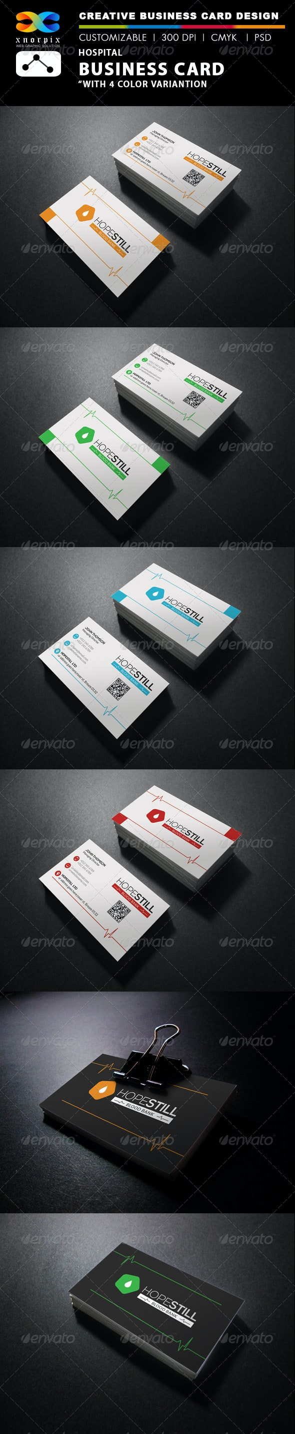 Hospital Business Card - Corporate Business Cards