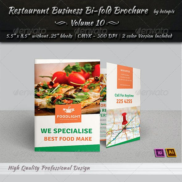 Restaurant Business Bi-Fold Brochure | Volume 10