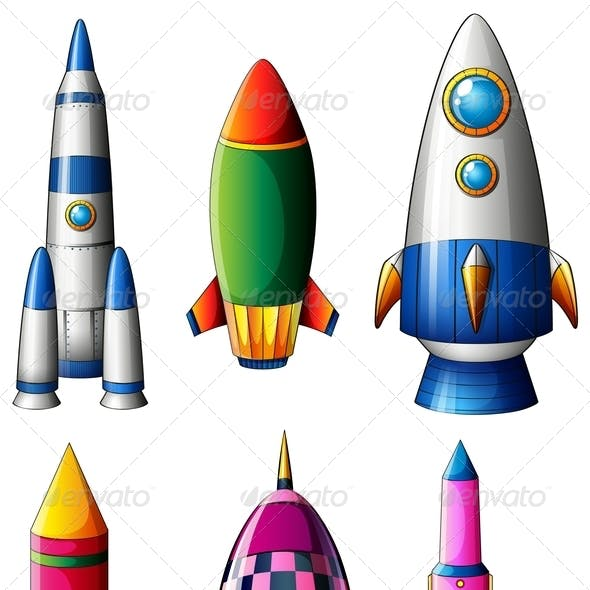 Set of Rocket Designs