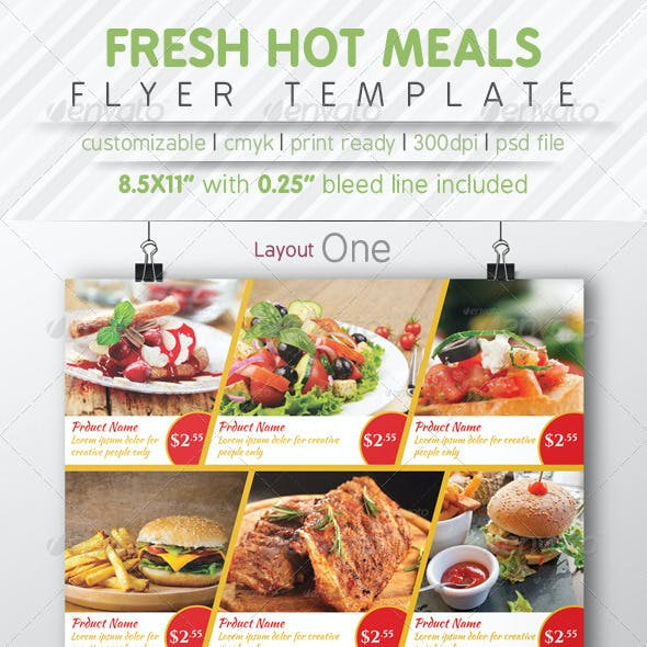 Fresh Hot Meals Menu
