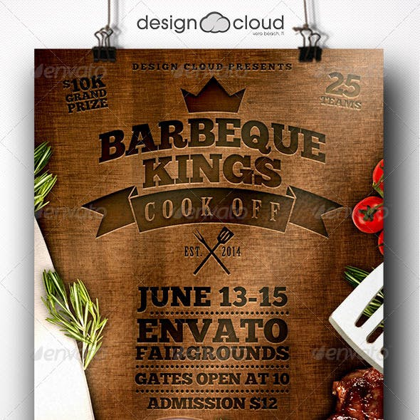 BBQ Kings Cook Off Flyer Template