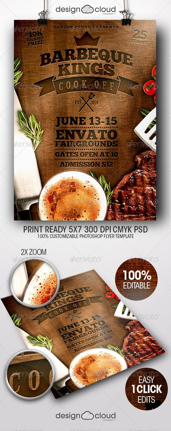 BBQ Kings Cook Off Flyer Template - Miscellaneous Events
