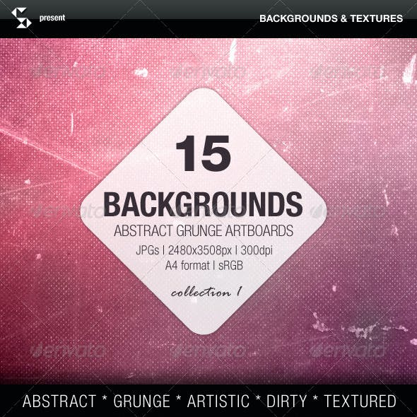 Abstract Backgrounds - 15 Grunge Artboards