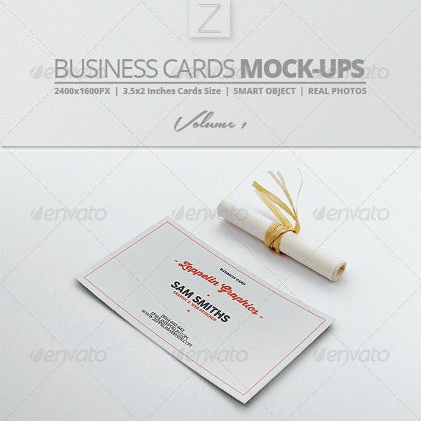 Business Card Mock-ups Vol.1