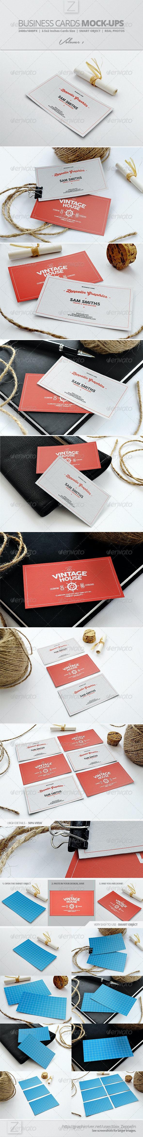 Business Card Mock-ups Vol.1 - Business Cards Print