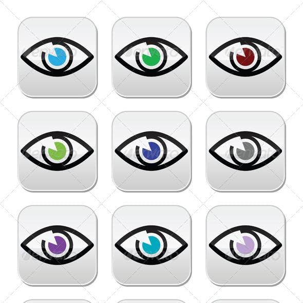 Eye Colors Icon Set