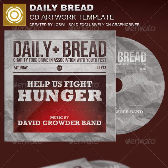 Daily Bread CD Artwork Template