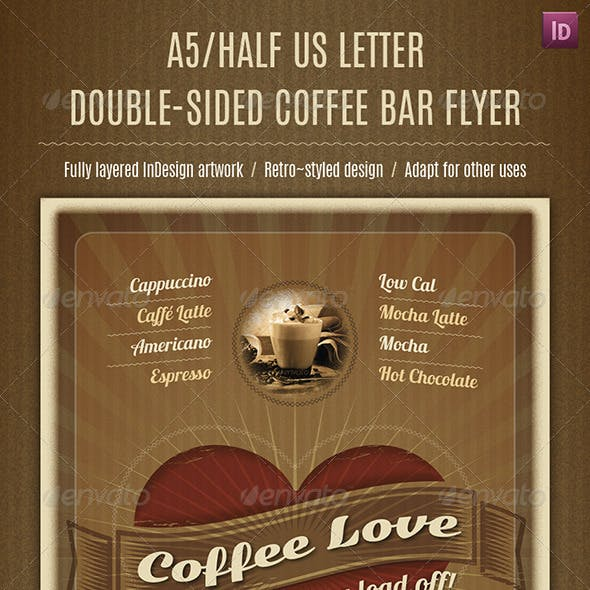 A5/Half Letter Double-Sided Coffee Bar Flyer