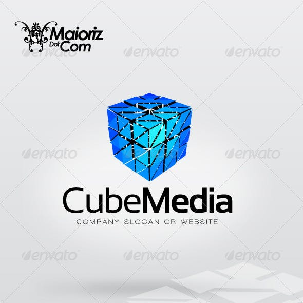 Cube Media Logo Template