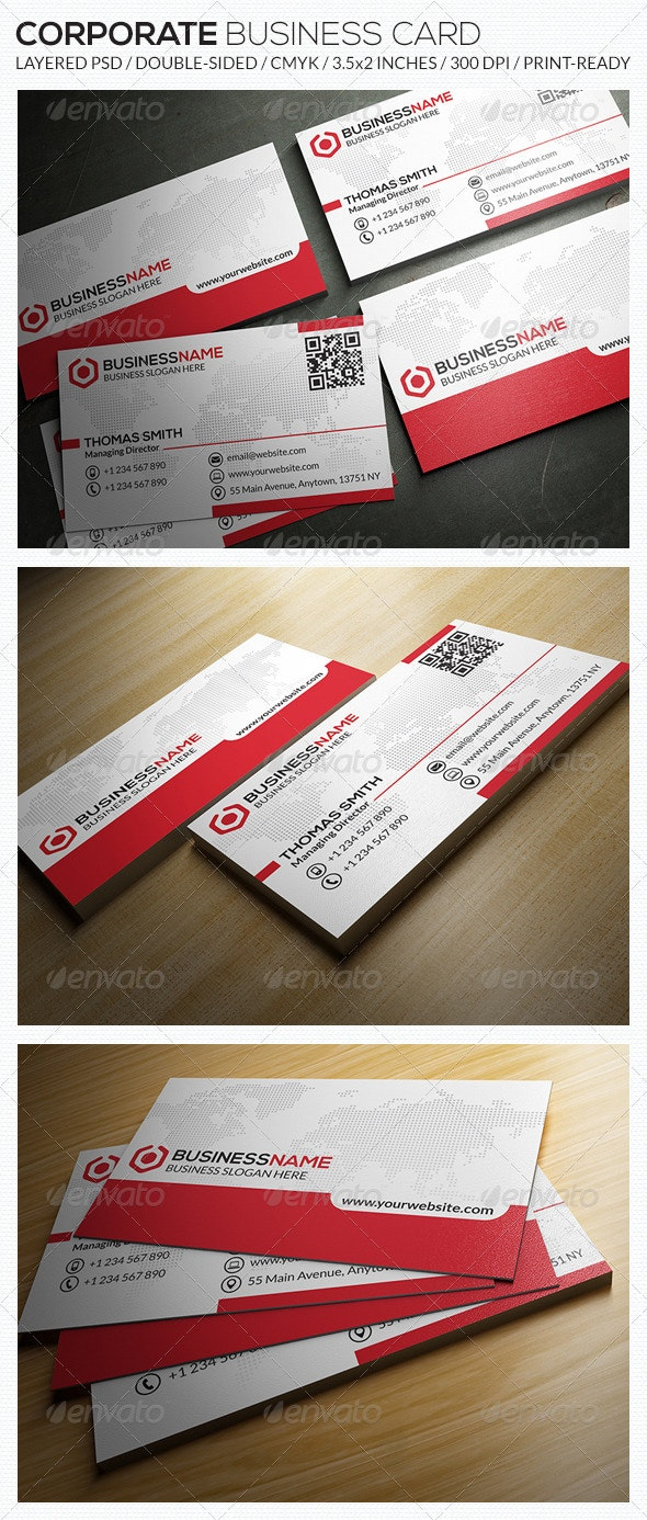 Corporate Business Card - RA20 - Corporate Business Cards