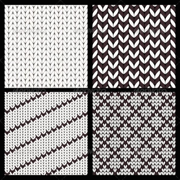 Set of Four Seamless Knitting Patterns