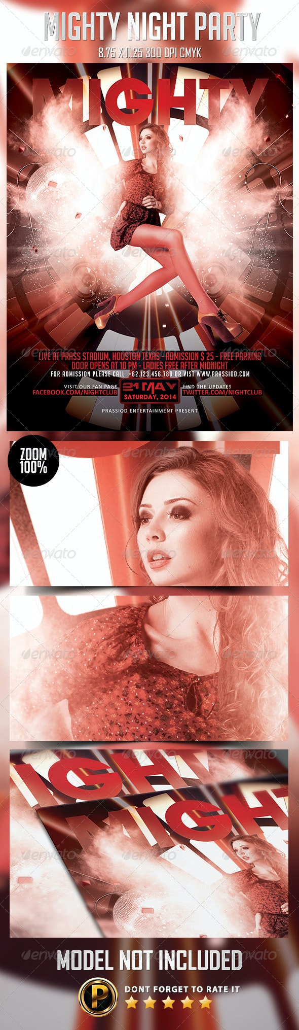 Mighty Night Party Flyer Template