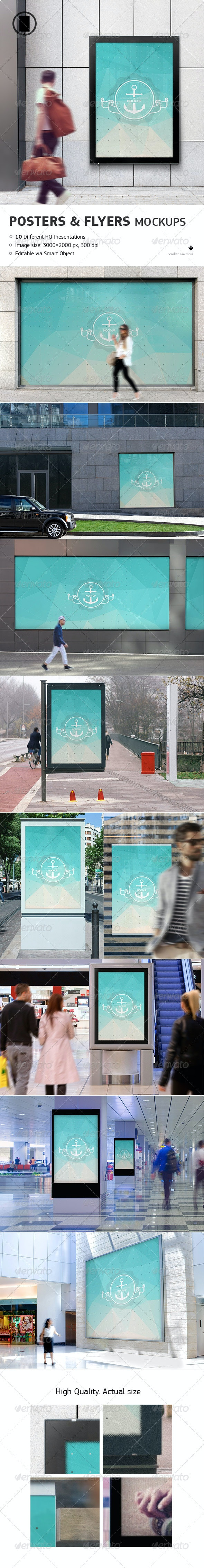Flyer, Poster and Billboard Mockups - Posters Print