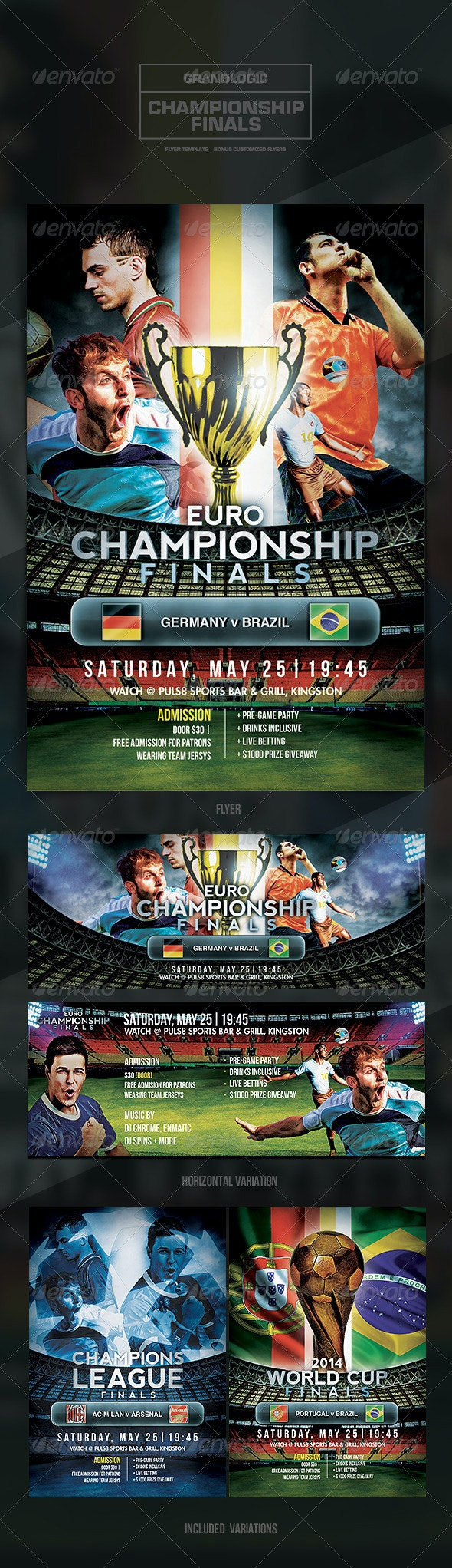 Soccer Tournament Flyer/Poster - Sports Events