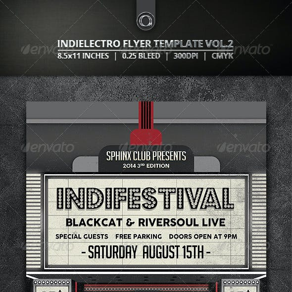 Indie Festival Flyer Template Vol.2