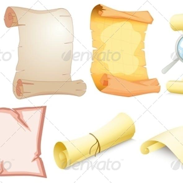 Set of Empty Scrolls
