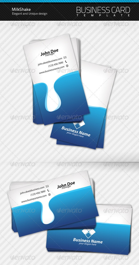 Milk Shake Business Card - Creative Business Cards