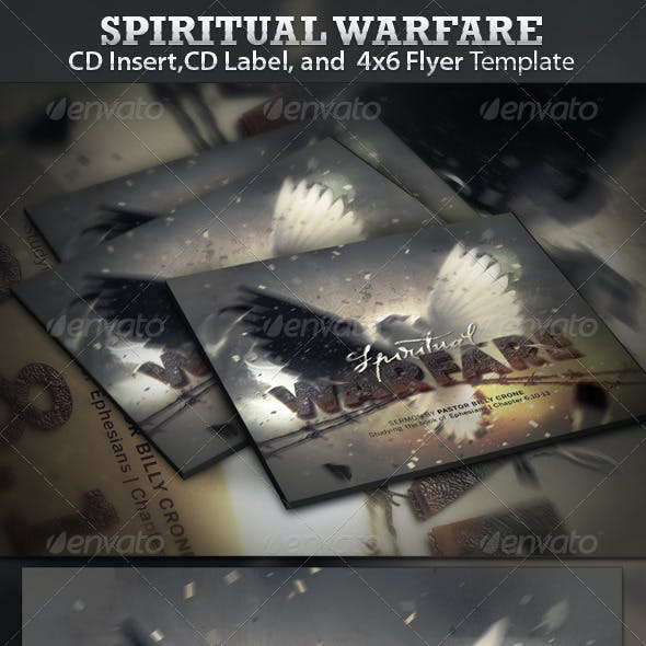 Spiritual Warfare CD Insert, CD Label , and Flyer