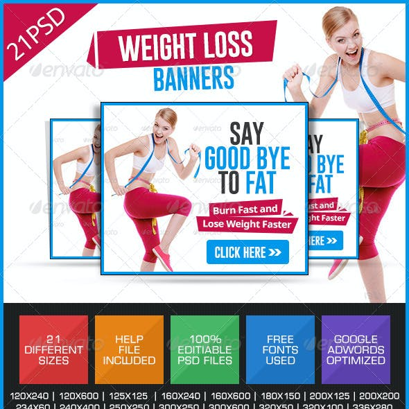 Weight loss & GYM Banners