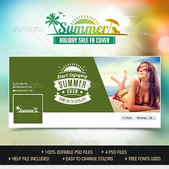 Summer Sale Facebook Cover Pages