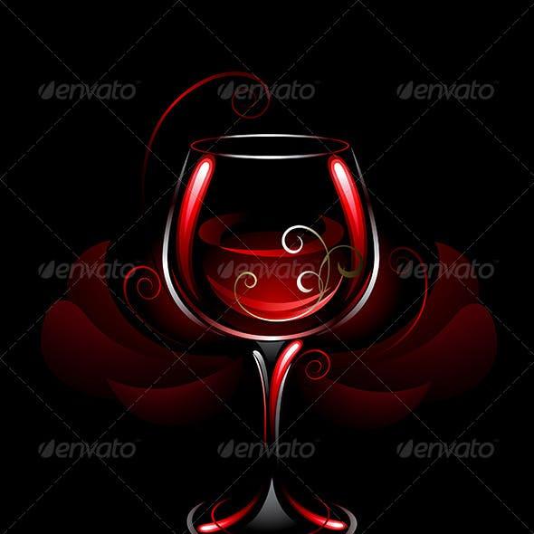 Wineglass of Red Wine