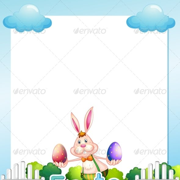 Easter empty card template