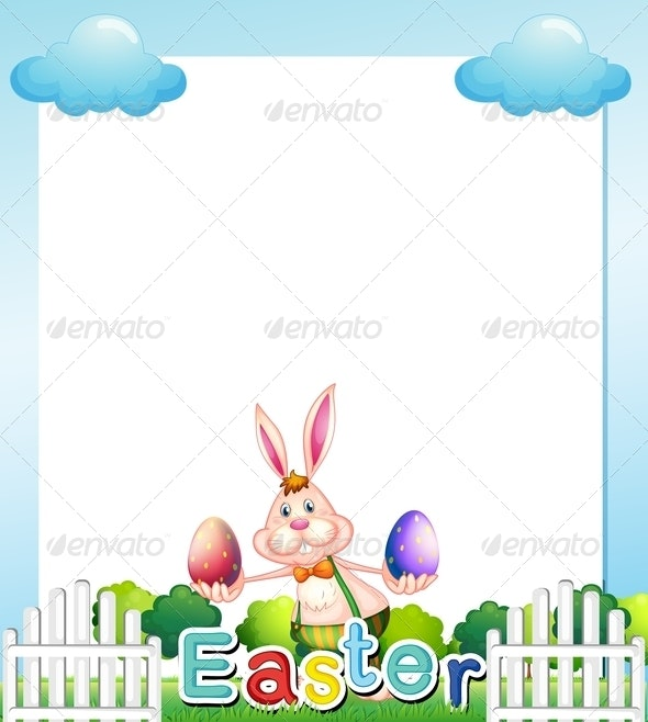 Easter empty card template - Borders Decorative