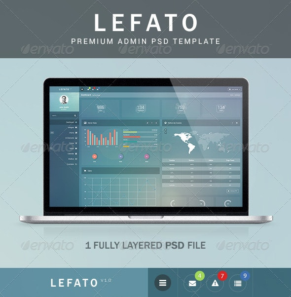 Lefato - Premium Admin PSD Template