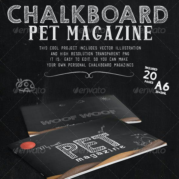 Chalkboard Pet Magazine