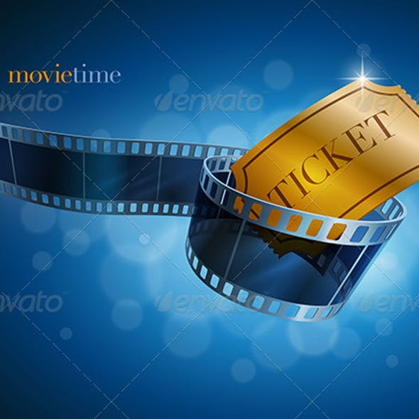Camera Film Strip and Gold Ticket