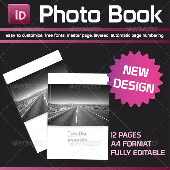 Photo Book Portfolio Template