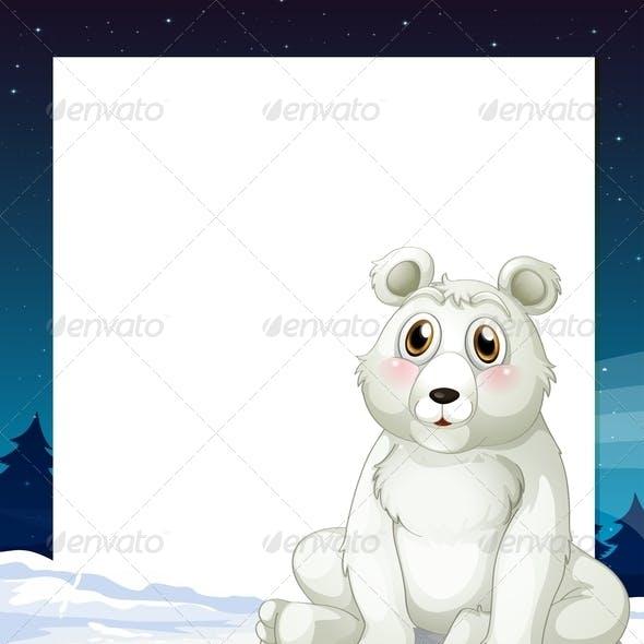 Empty Template with Polar Bear