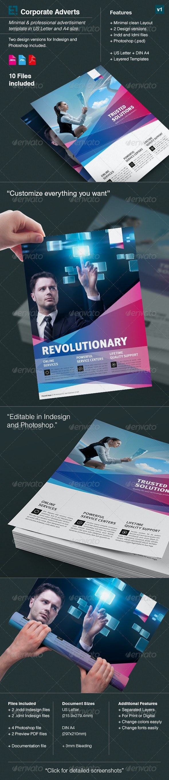 Corporate Flyer / Ad Template / US Letter / Din A4 - Corporate Flyers