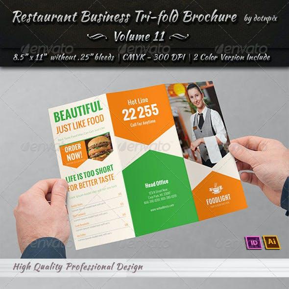 Restaurant Business Tri-Fold Brochure | Volume 11