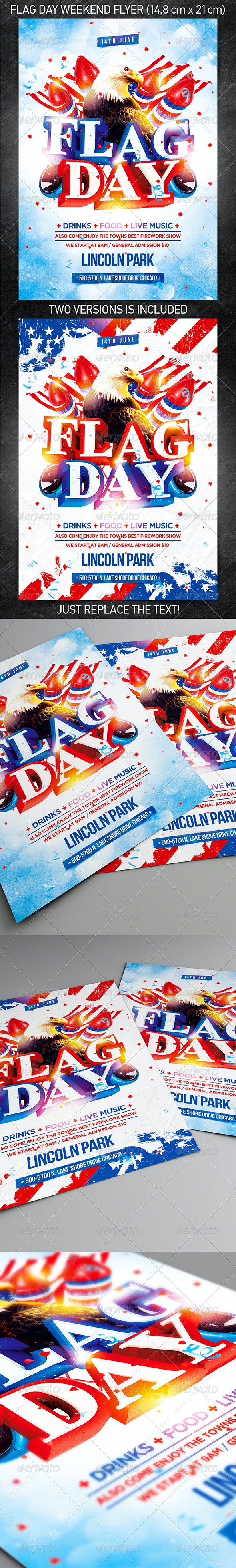Flag Day Weekend Party Flyer - Holidays Events