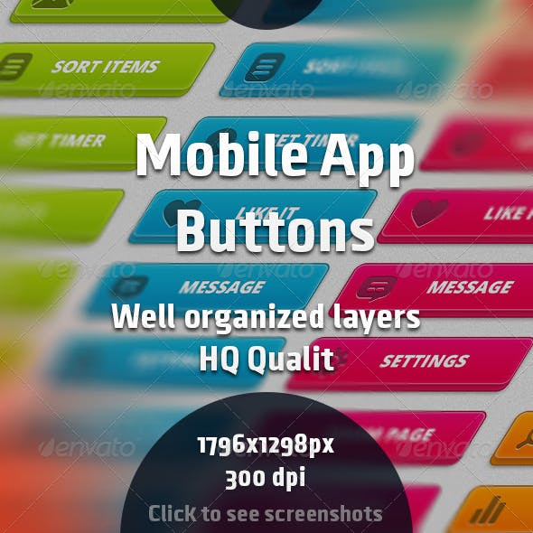 Mobile App Buttons