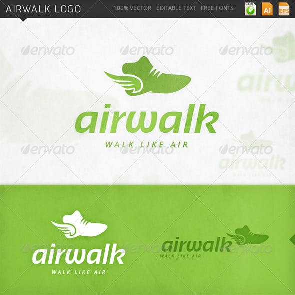 Airwalk Winged Shoes Logo Template