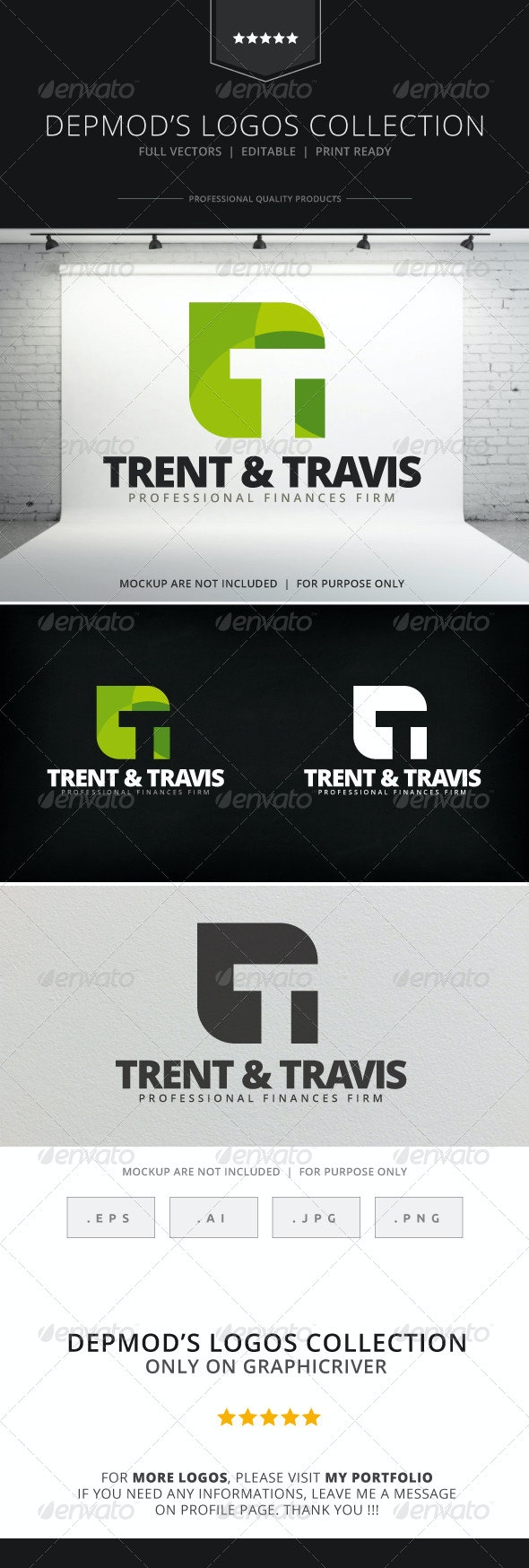 Trent & Travis Logo - Letters Logo Templates