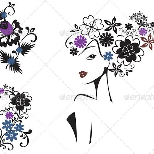 Elegant Woman In Flowers