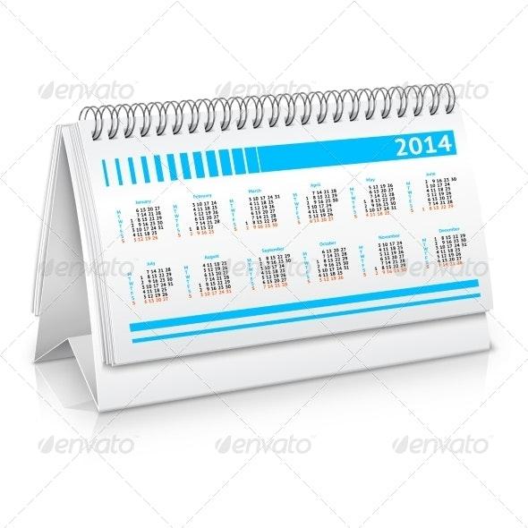 Desk Calendar Mockup - Concepts Business