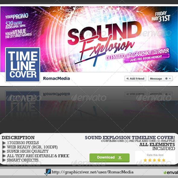 Sound Explosion Facebook Timeline Cover
