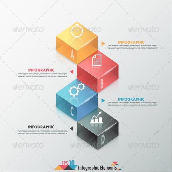 Modern Infographic Options Banner With Blocks